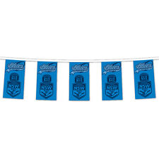 NEW 2017 State of Origin NSW New South Wales Blues BUNTING FLAGS 12 Pack Party