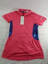 DALLAS COWBOYS GOLF CLUB WOMENS SMALL S ADIDAS FANCY SHIRT PINK CLIMACOOL NWT