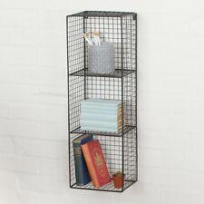 Industrial Metal Wire 2 - 3 Tier Black Shelf Rack Vintage Basket Wall Mounted