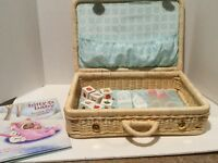 American Girl Doll Bitty Baby Wicker Starter Suitcase retired hard to find nice!