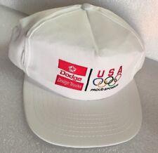 Unused Vintage DODGE MOPAR Trucks USA OLYMPICS Trucker Hat Snap Back