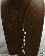 """Chic Handmade White Baroque Freshwater Pearl Pendant Necklace 20"""""""