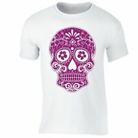 Sugar Skull Day of the Dead T-shirt Pink Mexican Gothic Dia Los Muertos shirt