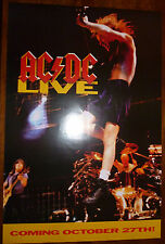 """AC DC - Live ~ PROMO POSTER ~ """"Coming October 27th"""" ~ 36 x 24"""