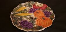 "Omnibus by Fitz and floyd 7.5"" diameter vegetable plate 1993. Made In China"
