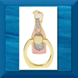 Cell Phone Movable Ring PINK Champagne Bottle Shape Holder Stand Finger Grip