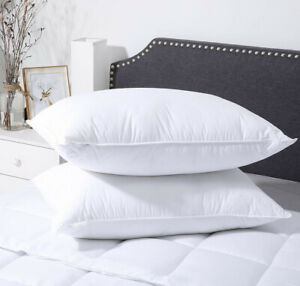 Premium Pillow PAIR Luxury Bounce Back Hollowfibre - Made in the UK!