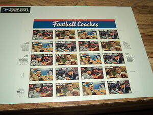 SHEET OF 20 LEGENDARY FOOTBALL COACHES 32 CENT STAMPS