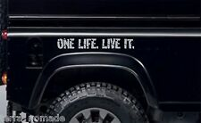 2 X One Life Live It, pegatinas, Land Rover Camel Trophy, 4x4 Off Road, Divertida