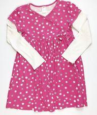 Gymboree Girls 9 Pink Polka Dot Prima Ballerina Knit Cotton Dress