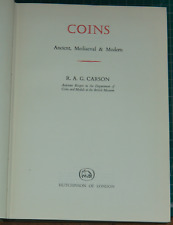More details for coins ancient medieval & modern r. a. g. carson book