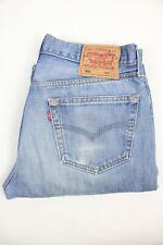 Mens Vintage LEVIS 501 Denim Jeans W32 L32 Regular Straight Leg Light Blue