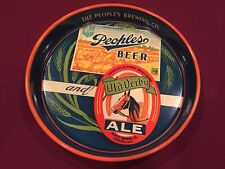 People Beer Old Derby Ale Beer Tray, Oshkosh Wisconsin, Very Near Mint
