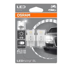 Osram LED W21/5W T20 DC Cool White Bulbs 6000K 580/380W W3x16q Wedge 7716CW-02B