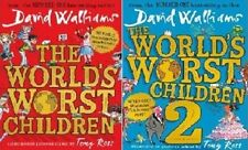 The World's Worst Children Book 1 and 2 by David Walliams NEW Hardbacks