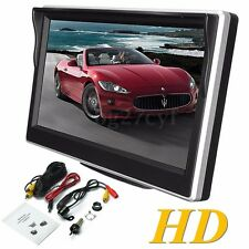 5'' Digital LCD TFT Screen Rear View Monitor For Car Reverse Camera VCR DVD 12V