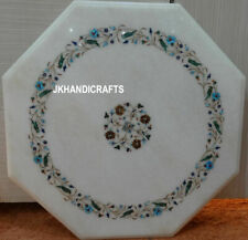 Marble Side Corner Table Top Mosaic Inlaid Parrot Design Inlaid Gift