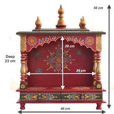 Home Mandir Pooja Ghar Mandapam for Worship / Wooden Handcrafted Hindu Temple 81