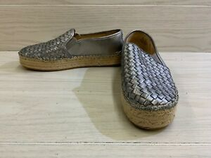 Sam Edelman Catherine Espadrille Loafer Flat, Women's Size 10M, Pewter Leather