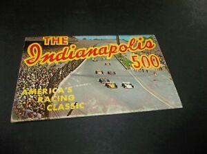 Vtg 1973 Indy 500 Postcard Folio - Unger Andretti Unser Foyt Johncock plus More
