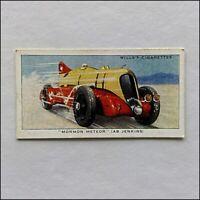 Wills Speed 18 Mormon Meteor AB Jenkins Cigarette Card (CC9)