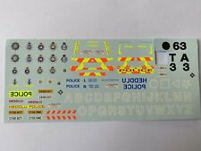 Police Code 3 C999 BMW force crests water slide silk screen decals 1/43 A