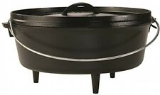 Lodge Cast Iron Camp Dutch Oven 6 Quart Pot Pan Skillet Outdoor Camping Cookware