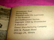 1962 Strombecker Road Racing Guide Slot Car Vintage Booklet (#6)  used