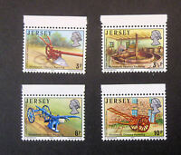 JERSEY SG119/122 19th CENTURY FARMING SET OF 4  STAMPS WITH TOP MARGINS MNH