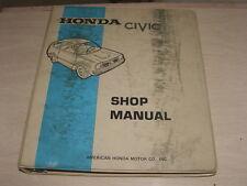 Vintage Honda OEM Shop Manual 1973 Honda Civic