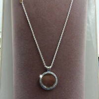 """Authentic 100% 925 Sterling Silver Sparkling Floating Locket Necklace 60cm/23.6"""""""