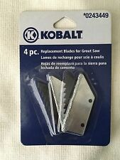Kobalt Grout Saw Blade, Carbide Grit-Edge, Steel Tooth Blade, #0243449, #54574