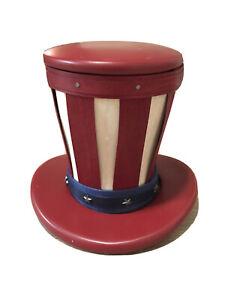 Longaberger Miniature Uncle Sams Hat Basket With Top And Brim Accessories