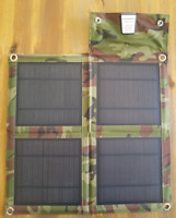 Cell Phone Charger Portable Foldable Camoflauge Solar Powerbank USB Port