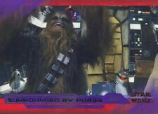 Star Wars Last Jedi S2 Purple Base Card #44 Surrounded by Porgs