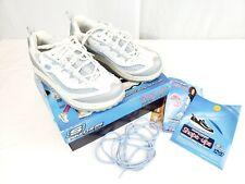 Sketchers Shape Ups Jump Up Fitness  Sneaker White Silver Blue  sz 9