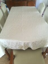 Large Cream Table Cloth