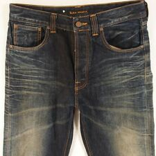 Herren Nudie Fast Freddy Baggy Relaxed Blue Jeans W32 L32