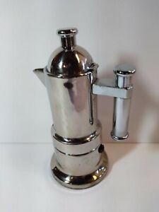 INOX Italian Espresso Coffee Maker Pot Stove Top Italy 18/10 Vev Vigano