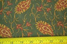 By 1/2 Yd, Paisley on Dark-Green, Quilting, Kansas Troubles Quilters, Moda M7095