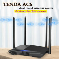 Tenda AC6 PC Wireless Router 1200M Dual Wi-fi 2.4+5.0Ghz 4 5dBi Antenna 1+3 Port
