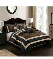 Nanshing Pastora 7- Piece Bedding Comforter Set, Brown, California King
