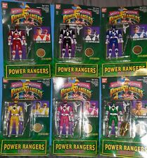 SET OF SIX1994 NEW Mighty Morphin Power Rangers FLIP HEAD Figures ALL 6 + TATOOS