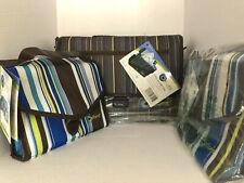Creative Options Shoulder Tote Bag Striped 700-115 & (2) Craft Notebook 700-500