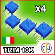 TRIMMER 10K DI PRECISIONE MULTIGIRI, precision potentiometer x4 pezzi