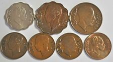7 IRAQ KINGDOM COINS, TEN FIL TO ONE FIL, AH-1349 (1931-AH-1372 (1953) VF-UNC