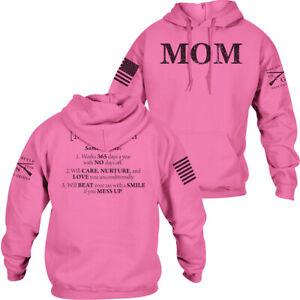Grunt Style Mom Defined Pullover Hoodie - Azalea