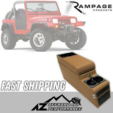 Rampage Deluxe Locking Center Console 76-95 Jeep CJ-7 /& Wrangler YJ 31615 Black