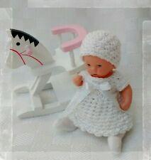 """Puppenkleidung """" Kleidchen Set """" 3 teilig Handarbeit Miniatur Ari Ooak ES 7,5 cm"""