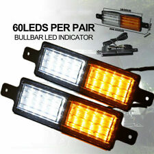 2x Universal 30 LED Bullbar Front Indicator Side Marker Lamp 10-30V Park Light
